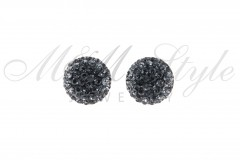 Earrings 12mm - Silver Night