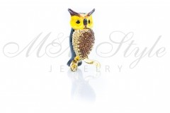 Owl 5x3cm with crystals Swarovski 1