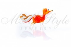 Fox 6.5x3.5cm with crystals Swarovski 1