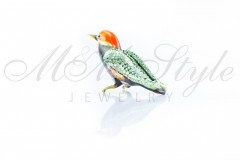 Bird 6x4cm with crystals Swarovski 1