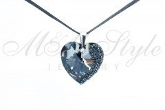 Heart 28mm - Silver Night