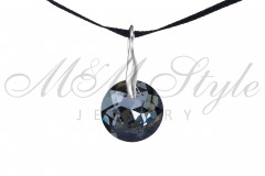 Classic Pendant 14mm Silver Night 1