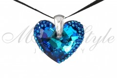 Heart Truly in love 28mm Bermuda Blue 1