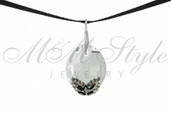 Pure Leaf 23mm Crystal 1