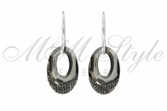 Earrings Helios 30mm Silver Night 1