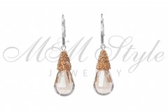 Earrings Caboshete Lux - Golden Shadow