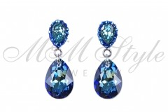 Earrings pear cut 16mm - Bermuda Blue