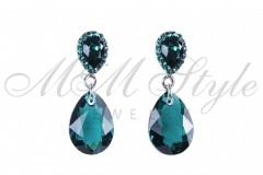 Earrings pear cut 16mm - Emerald 1