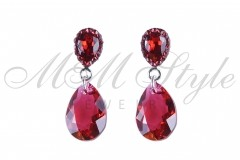 Earrings pear cut 16mm - Scarlet 1
