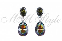 Earrings pear cut 16mm - Vitral Medium 1