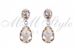 Earrings pear cut 16mm - Golden Shadow 1