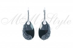 Earrings pear shaped 22mm - Jet