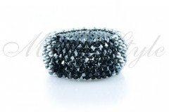 Bracelet super lux - Jet Hematite with Pearls 1