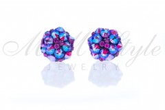Earrings 12mm - Mix Fuchsia Shimmer