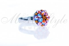 Ring 10mm - Mix Blue Zircon Shimmer 1