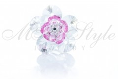 Ring flower - Crystal and Rose 1