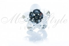 Ring flower - Crystal and Silver Night 1