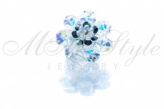 Ring flower mini pear - Crystal AB 1