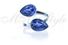 Ring double pear 14x10mm - Tanzanite 1